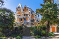 SOCHI ROSJA, KWIECIEŃ, - 27, 2018: Retro dom w parku Riviera Obraz Royalty Free