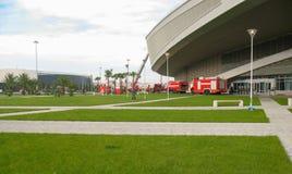 Sochi Rosja, Październik, -, 2013: Palacza szkolenie przy olimpijskim parkiem na słonecznym dniu obrazy royalty free