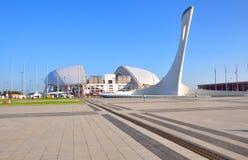 SOCHI, RUSIA - 25 DE JUNIO DE 2017: Vista del ` de Fisht del ` del estadio del ` de la plaza de las medallas del ` Fotos de archivo