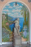 SOCHI, RUSIA 5 DE JUNIO DE 2014: Decoración del arte en el sanatorio de Dzerzhinsky Fotografía de archivo libre de regalías
