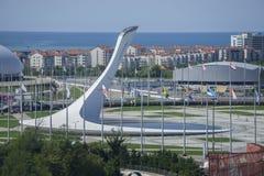 Sochi, Rusia - 11 de septiembre: Fuego de Juegos Olímpicos el 11 de septiembre de 2017 Foto de archivo libre de regalías