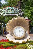 Sochi, Russia -Clock in form of a pearl close to entrance of the Royalty Free Stock Photos