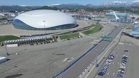 SOCHI, RUSSIA Construction of Bolshoy Ice Dome in Sochi, Russia for Winter Olympic Games 2014. Bolshoy ice Palace Stock Photography
