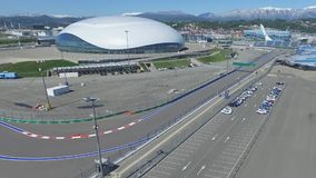 SOCHI, RUSSIA Construction of Bolshoy Ice Dome in Sochi, Russia for Winter Olympic Games 2014. Bolshoy ice Palace Stock Images