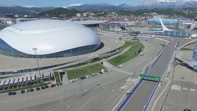 SOCHI, RUSSIA Construction of Bolshoy Ice Dome in Sochi, Russia for Winter Olympic Games 2014. Bolshoy ice Palace Stock Image