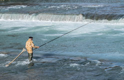 SOCHI, RUSSIA - 17 FEBRUARY, 2016. Fishing. Royalty Free Stock Images