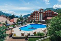 SOCHI, RUSSIA, JUNE 12, 2016: Peak Hotel Krasnaya Polyana Royalty Free Stock Images