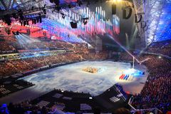 XI Paralympic Winter Games in Sochi stock photo