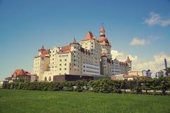SOCHI, RUSSIA - MAY 21, 2017: Hotel Bogatyr near Sochi Olympic P Stock Images