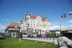 SOCHI, RUSSIA - MAY 21, 2017: Hotel Bogatyr near Sochi Olympic P Stock Image