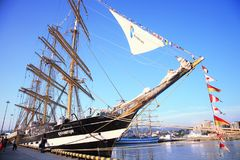 The tall ship Krusenstern Royalty Free Stock Image