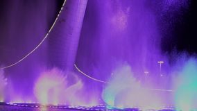 Sochi Russia musical fountain in the Olympic Park 28.02.2018. Sochi Russia musical fountain nice stock video footage