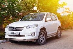 Sochi, Russia - October 11, 2016: Toyota RAV4 parked suburbia of Royalty Free Stock Image