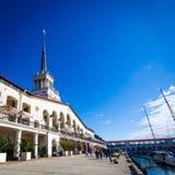 Sochi, Russia - Oktober 15, 2016: Marine station Port of Sochi, Royalty Free Stock Image