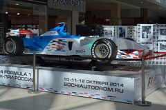 SOCHI/RUSSIAN FEDERATION - SEPTEMBER 22 2014: bolide car on the Royalty Free Stock Photography