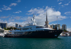 SOCHI/RUSSIAN FEDERATION - SEPTEMBER 29 2014: a steam ship. In the sea port Stock Image