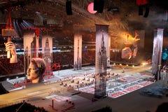 SOCHI, RUSSLAND - 7. FEBRUAR 2014: Bild von Moskau von dem zweiten Stockfoto