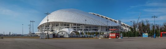 SOCHI, RUSSLAND - 25. FEBRUAR 2017: Das Olympiastadion Fisht Stockfoto