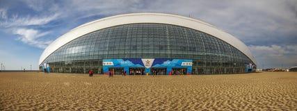 SOCHI, RUSSLAND - 25. FEBRUAR 2017: Der große Eis-Palast Olympischer Park Lizenzfreies Stockbild