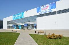 Sochi, Russland, März, 01, 2016, niemand, die Mitte des Eiskunstlaufs von Volosozhar und Trenkov Lizenzfreies Stockbild