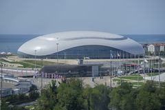 Sochi, Russland - 11. September: Bolshoy-Eis-Haube am 11. September 2017 Lizenzfreie Stockbilder