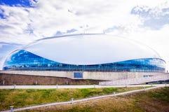 Sochi Ryssland - Augusti 14, 2016: Hockeystadion som är in Arkivfoton