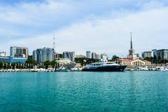 Sochi Ryssland bertrand Turism Vatten fotografering för bildbyråer