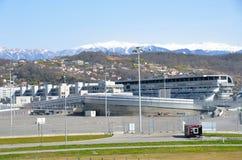 Sochi Ryssland, mars, 01, 2016 som är olympisk parkerar, Sochi avtodrom Arkivfoton