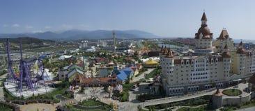 Sochi Ryssland - September 11, 2017: Hotell Bogatyr Arkivfoton