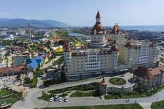 Sochi Ryssland - September 11, 2017: Hotell Bogatyr Royaltyfri Foto