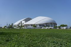 Sochi Ryssland - September 11, 2017: Stadion Fisht Royaltyfria Foton