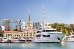 Sochi sea port, Russia stock photography