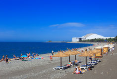 Sochi seashore beach Stock Photos