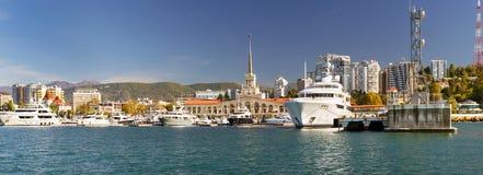Sochi-Seehafen, Russland Stockfotografie