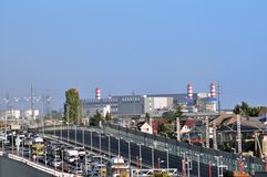 SOCHI - SEPTEMBER 12: Thermal power station support of Olympic objects in Sochi in September 12, 2012 Stock Image