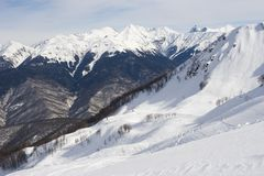 Sochi ski resort Stock Image