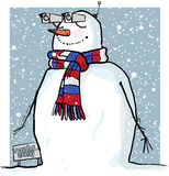 Sochi spy snowman Stock Image