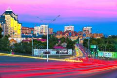 Sochi street, Ufa, Bashkortostan, Russia - June 2015 stock image