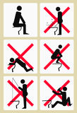 Sochi Toilets Pictograms Royalty Free Stock Photo