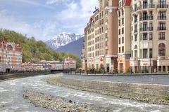 Sochi. The urban-type settlement of Krasnaya Polyana Royalty Free Stock Image
