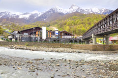 Sochi. The urban-type settlement of Krasnaya Polyana Stock Photo