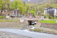 Sochi. The urban-type settlement of Krasnaya Polyana Stock Image