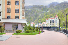 Sochi. The urban-type settlement of Krasnaya Polyana Royalty Free Stock Photo