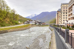 Sochi. The urban-type settlement of Krasnaya Polyana Royalty Free Stock Photos
