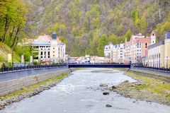 Sochi. The urban-type settlement of Krasnaya Polyana Royalty Free Stock Photography