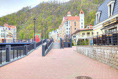 Sochi. The urban-type settlement of Krasnaya Polyana Royalty Free Stock Images