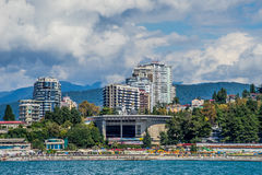 Sochi. View of Sochi from the sea Royalty Free Stock Photography