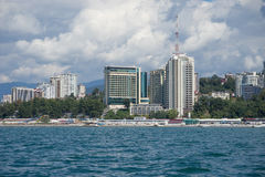 Sochi. View of Sochi from the sea Stock Image