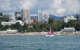 Sochi. View of Sochi from the sea Stock Photos