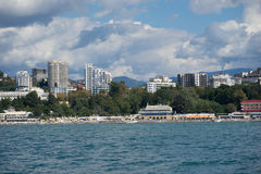Sochi. View of Sochi from the sea Royalty Free Stock Photo
